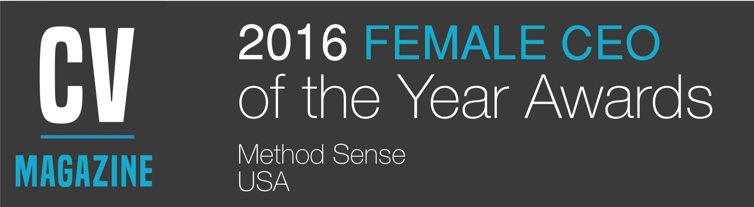 MethodSense CEO Named Female CEO of the Year